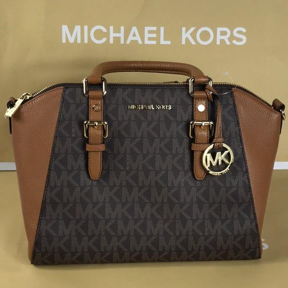 00c0d1be4263c8 Michael Kors Bags   Ciara Brnacorn Large Tz Satchel   Poshmark